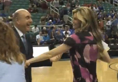 Erin Andrews and Dick Vitale Cut A Rug