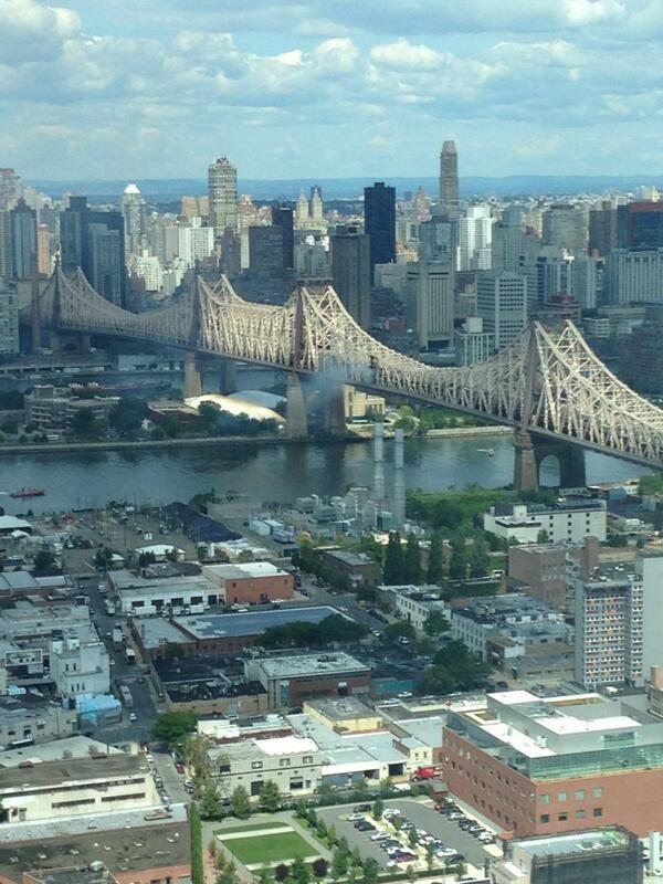 Fire in New York's Queensboro bridge