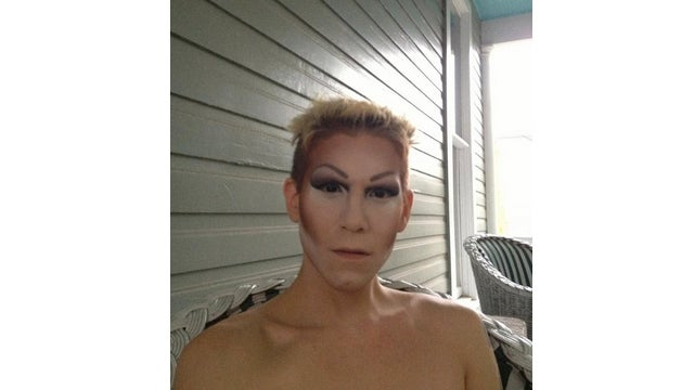 Want to See a Drag Queen in Half Makeup?