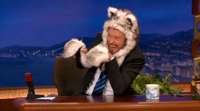 Vanessa Hudgens Brings Conan a Dead Ewok to Wear on his Head