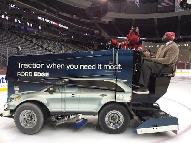Just Shaq And The Devil Riding In A Zamboni
