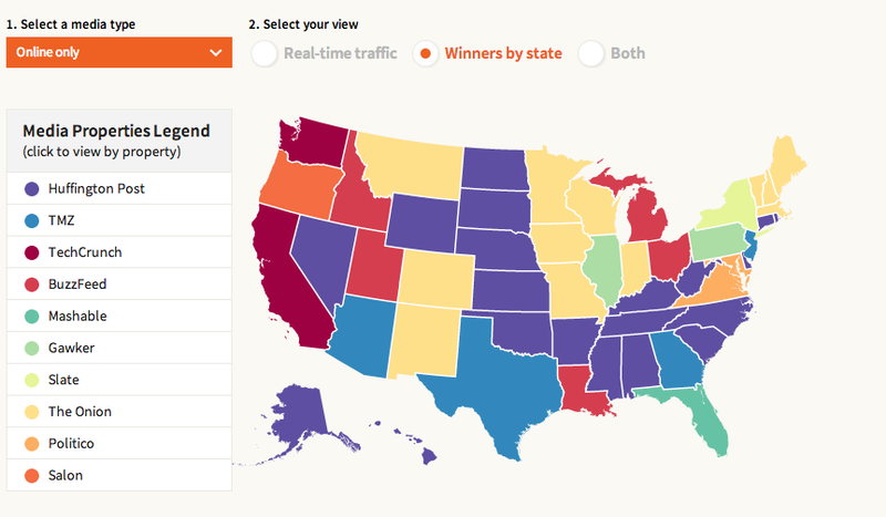 A Map of What Every State Reads Online (Including Right Now)