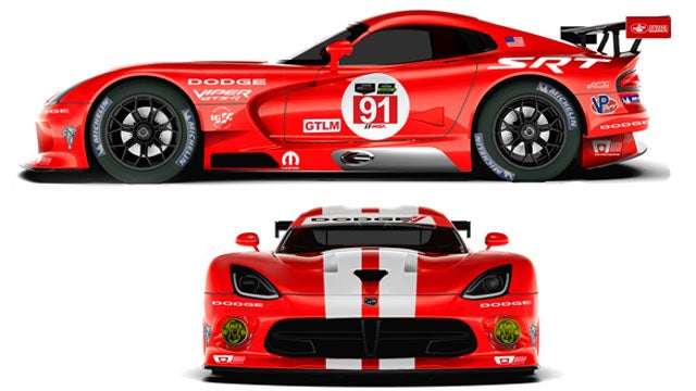Viper Race Cars Are Once Again Dodges And Have A Kickass Retro Livery