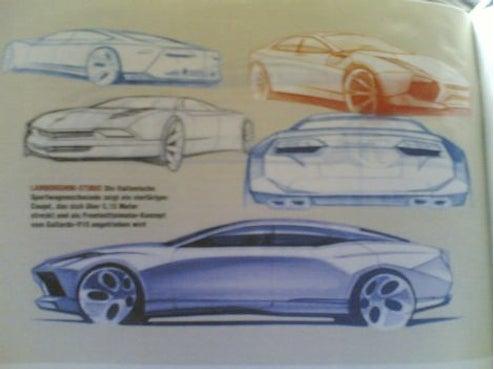 Are These Four-Door Lamborghini Estoque Design Sketches?