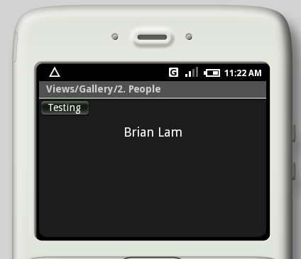 Android UI Screenshots