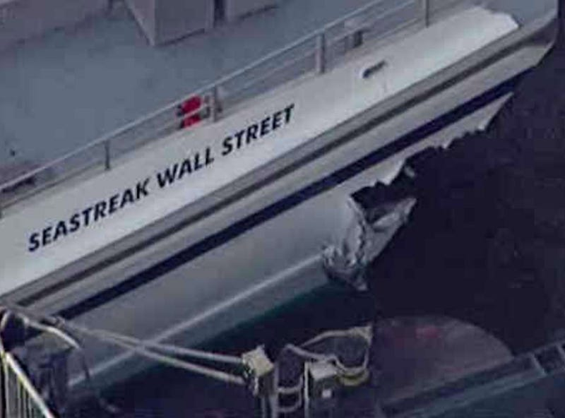 Dozens Injured as Commuter Ferry Slams into Pier Near Wall Street