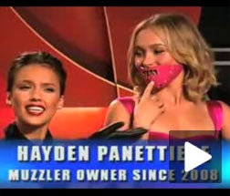 Act Now, And Watch Pitchwoman Jessica Alba Apply a Muzzle to Hayden Panettiere