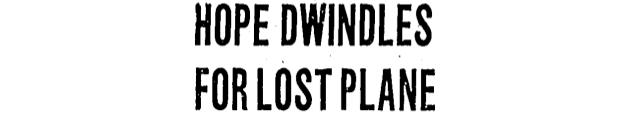 Lost Planes