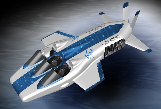 First Render of Richard Branson's Underwater Plane