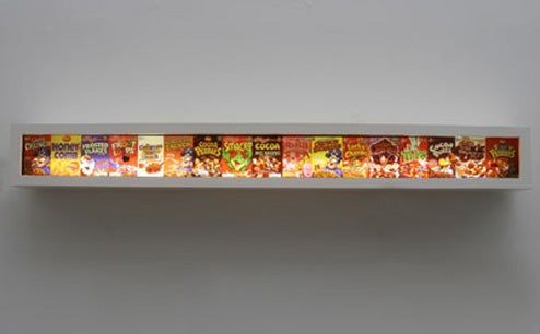 Refined Cereal Light Fixtures: Fortified With Frosted Flakes and Fluorescents