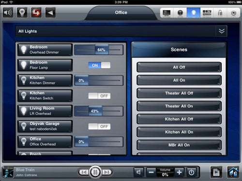 Control4 iPad App For Home Automation and Sloth