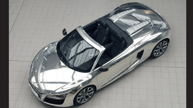 Audi dips R8 Spyder in chrome for Elton John