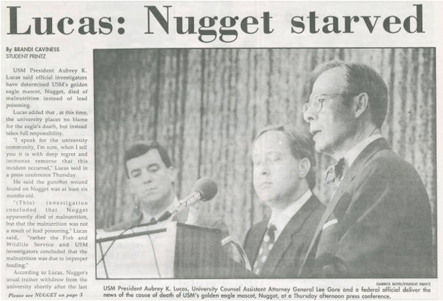 Who Killed Nugget II? Solving The Death Of Southern Miss's Mascot