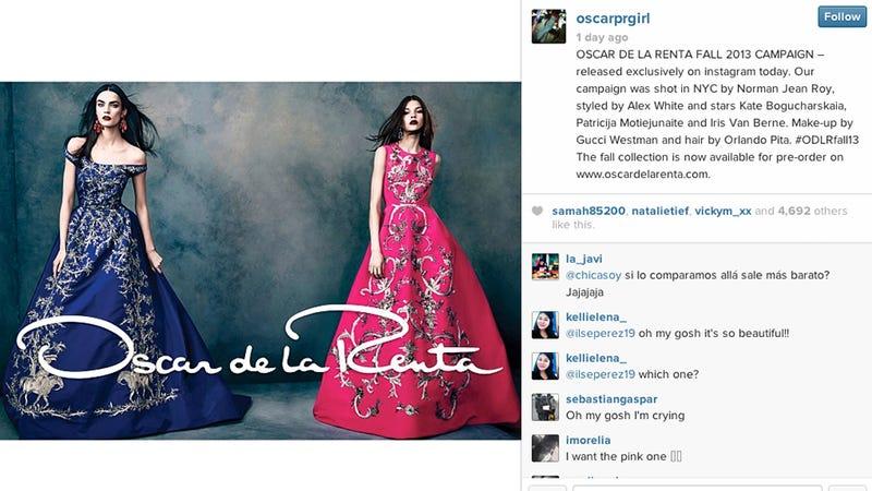 Oscar de la Renta Modernizes, Debuts Fall Campaign on Instagram