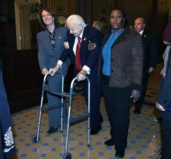 Barely Lucid Old Coot Senator Robert Byrd Hospitalized Again