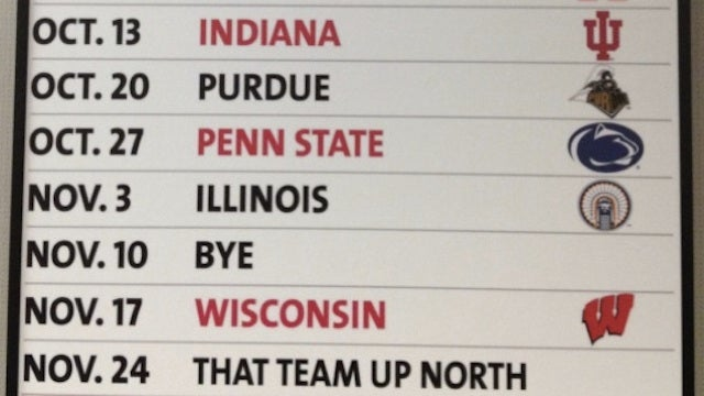 "Ohio State Calls Michigan ""That Team Up North"" On Its 2012 Football Schedule"