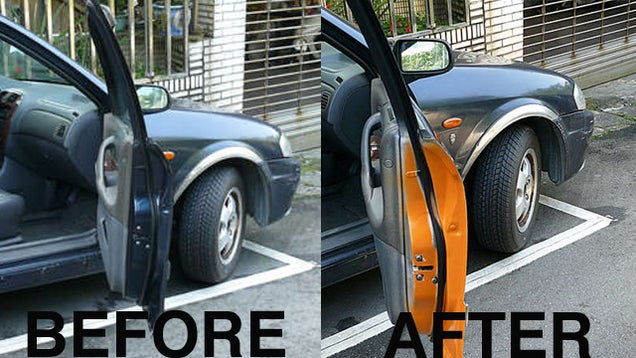Paint A Warning Strip On The Inside Of Your Car Door To Prevent Accidents
