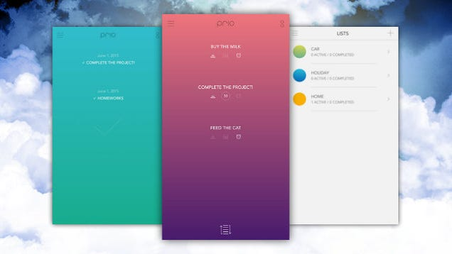Prio Is a Customizable, Colorful To-Do List for iPhone