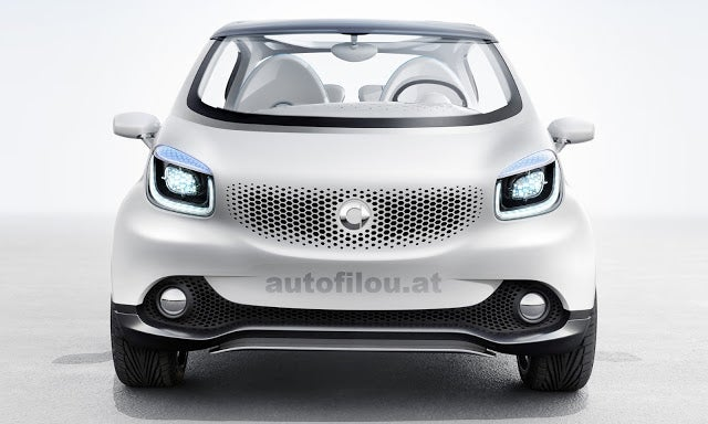 The Smart Fourjoy Is A Car With A Hole In Its Roof
