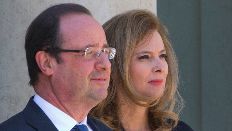 French President François Hollande Bids Adieu to First Lady