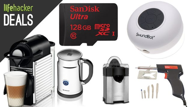 Deals: Compact Nespresso, Bluetooth In Your Shower, 128GB MicroSD