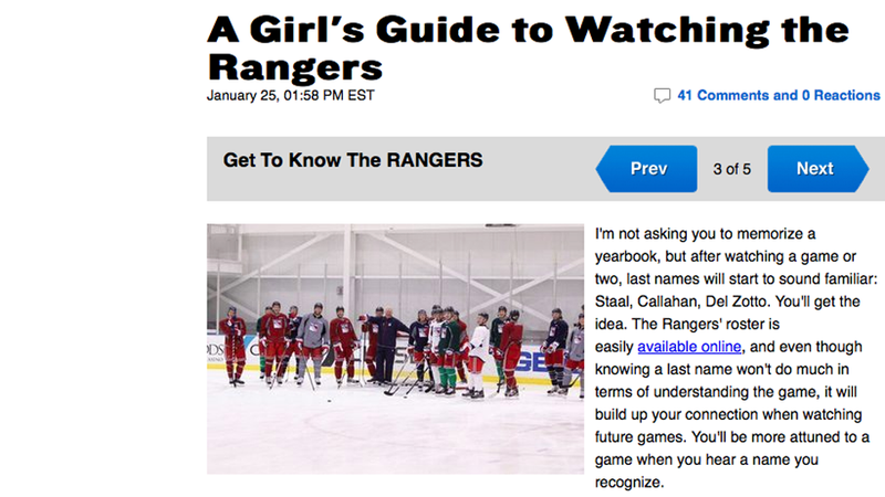 A Guy's Guide to Watching Your Girl Watch the Rangers