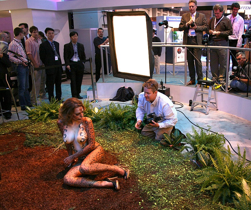 Best Booth Babe Ever: Samsung's Leopard Lady