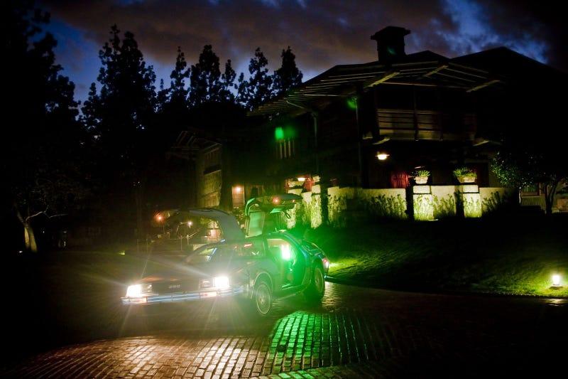 Back To The Future DeLorean: Gamble House Photo Shoot