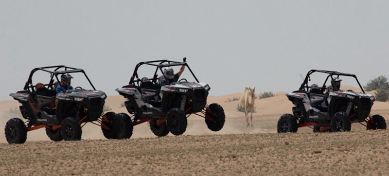 Pounding The Dunes of Dubai In Polaris' New Off-Road Buggy