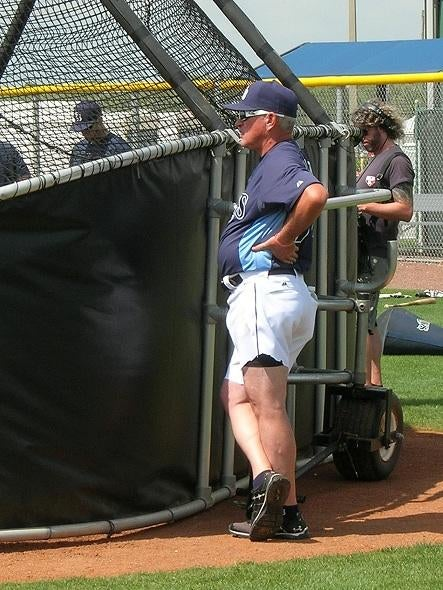Joe Maddon Wears Short Shorts