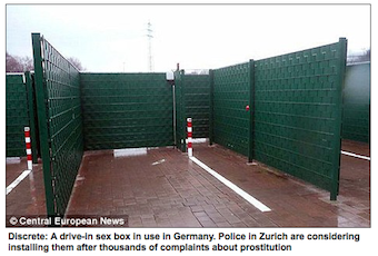 "Drive-In ""Sex Boxes"" To Shield Swiss Hookers From View"