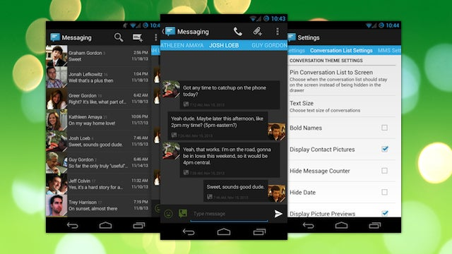Sliding Messaging Combines SMS and Google Voice Into One App