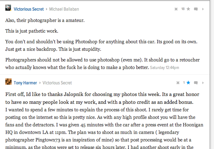 Why VictoriousSecret was just unfollowed by Jalopnik