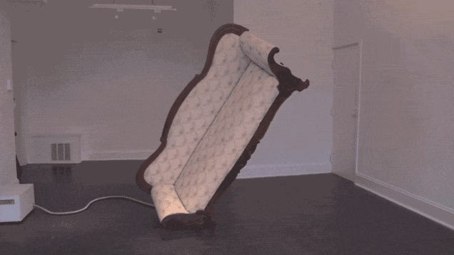 Whoa, This Sofa Balances On One Leg Thanks to Spacecraft Technology