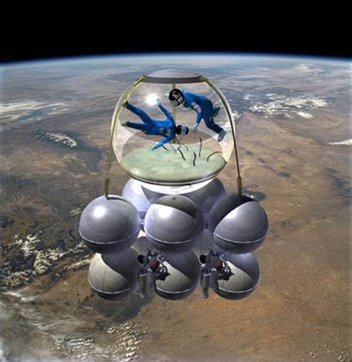 Armadillo Aerospace Fishbowl Spaceship Set for a 2010 Launch (Seriously)