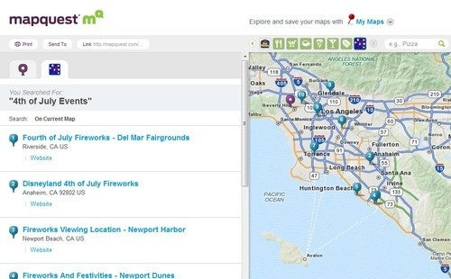 MapQuest Updates with a Focus on Trip Planning and Local Attractions