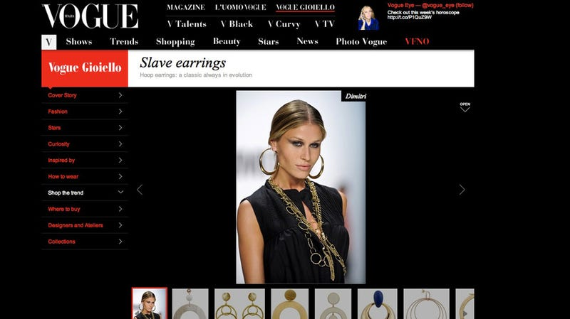 Italian Vogue Features Unbelievably Racist 'Slave Earrings' [Updated]