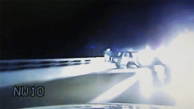 Michigan Trooper Leaps Over 35-Foot Railing To Apprehend Suspect