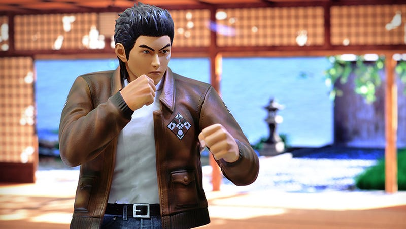 This Shenmue Statue Is Ready for Forklift Races