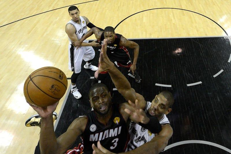 Miami's Big Three Bests San Antonio's Big One-And-Three-Quarters