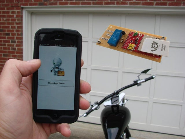 Challenge Winner: Monitor and Control Your Garage Door with Your Phone