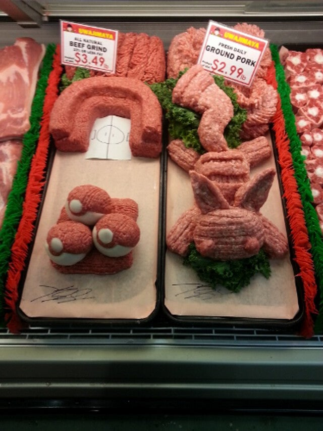 Pokémon, Sonic, And Mega Man, All Made Out Of... Meat?