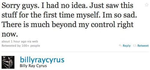 Billy Ray Cyrus Reacts To Miley's Bong Hit