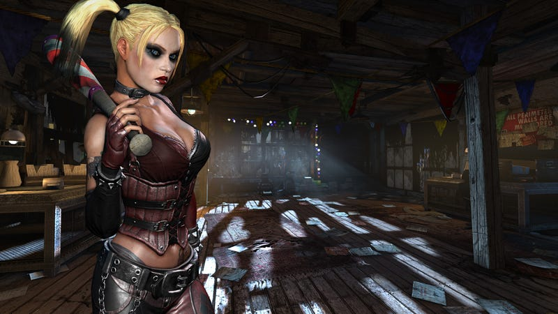 Concept art shows the disturbing evolution of Batman: Arkham City's Harley Quinn