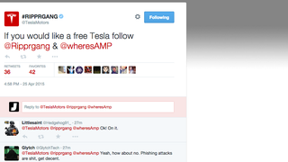 Hacked Tesla Twitter Account Is Offering People Free Cars