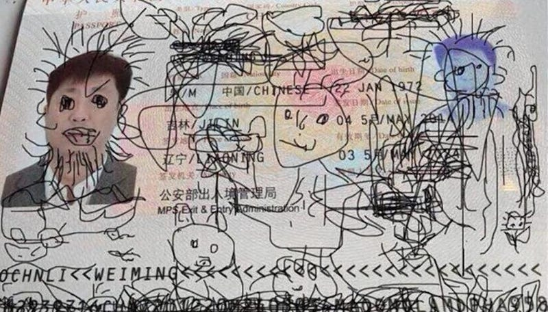 Man Trapped Abroad Because His Toddler Got Creative With His Passport