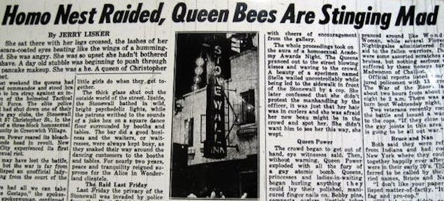Look At This Awful 1969 New York Daily News Stonewall Riots Report