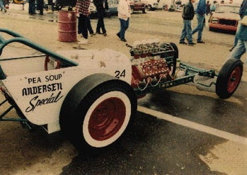 Cue the Dave Alvin and Stoke the Flathead: The Pea Soup Andersen's Dragster!