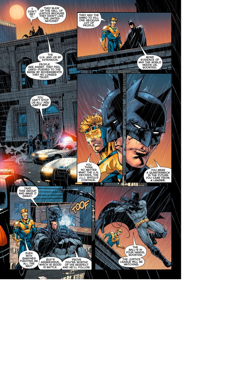 Batman Tells Booster Gold to Man Up in This Justice League International #6 Preview