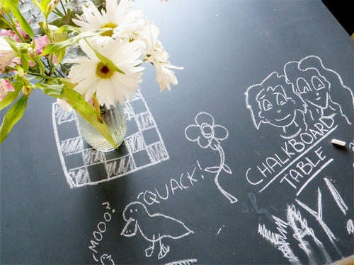 DIY Chalkboard Table Makes for Easy Note-Taking When Inspiration Strikes